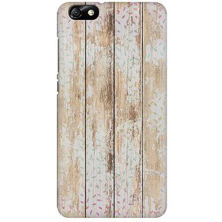 Mobicture Quirky Vintage Wood Premium Printed High Quality Polycarbonate Hard Back Case Cover For Huawei Honor 4X With Edge To Edge Printing