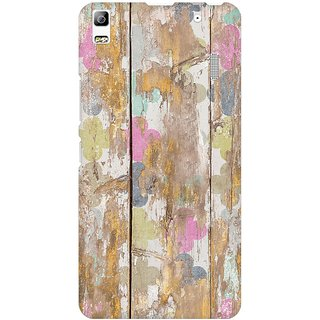 Mobicture Quirky Vintage Wood Premium Printed High Quality Polycarbonate Hard Back Case Cover For Lenovo A7000 With Edge To Edge Printing