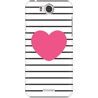 Mobicture Striped Heart Premium Printed High Quality Polycarbonate Hard Back Case Cover For InFocus M530 With Edge To Edge Printing