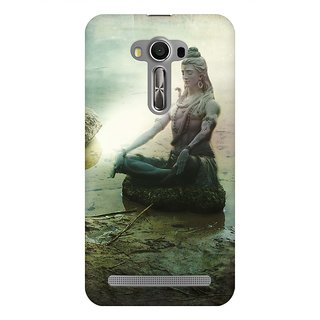 Mobicture The Great Shiva Statue Sitting By Lake Premium Printed High Quality Polycarbonate Hard Back Case Cover For Asus Zenfone 2 Laser ZE500KL With Edge To Edge Printing