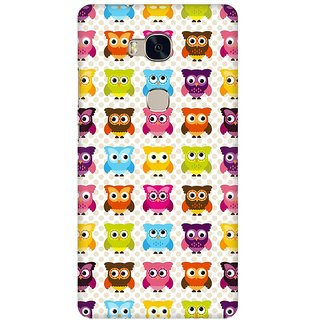 Mobicture Cute Owls Premium Printed High Quality Polycarbonate Hard Back Case Cover For Huawei Honor 5X With Edge To Edge Printing