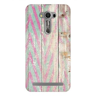 Mobicture Quirky Vintage Wood Premium Printed High Quality Polycarbonate Hard Back Case Cover For Asus Zenfone 2 Laser ZE550KL With Edge To Edge Printing