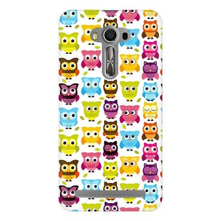 Mobicture Cute Owls Premium Printed High Quality Polycarbonate Hard Back Case Cover For Asus Zenfone Selfie With Edge To Edge Printing