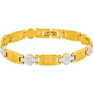 Dare by Voylla  Solid Link Bracelet