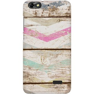 Mobicture Quirky Vintage Wood Premium Printed High Quality Polycarbonate Hard Back Case Cover For Huawei Honor 4C With Edge To Edge Printing