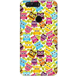 Mobicture Cute Owls Premium Printed High Quality Polycarbonate Hard Back Case Cover For Huawei Honor 8 With Edge To Edge Printing