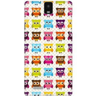 Mobicture Cute Owls Premium Printed High Quality Polycarbonate Hard Back Case Cover For InFocus M330 With Edge To Edge Printing