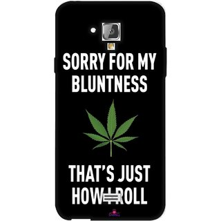 Snooky Printed 1088,Sorry for my bluntness Mobile Back Cover of Swipe Elite 2 Plus - Multi