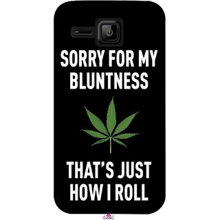 Snooky Printed 1088,Sorry for my bluntness Mobile Back Cover of Micromax Bolt S301 - Multi