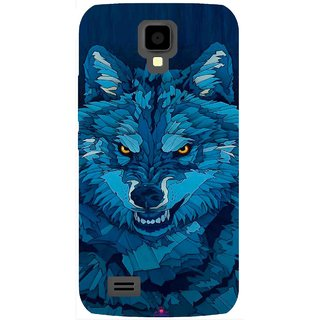 Snooky Printed 1089,southside festival wolf Mobile Back Cover of Gionee Pioneer P2S - Multi