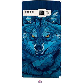 Snooky Printed 1089,southside festival wolf Mobile Back Cover of Intex Aqua 3G Strong - Multi