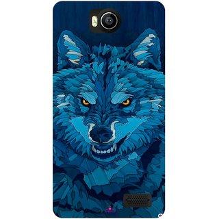 Snooky Printed 1089,southside festival wolf Mobile Back Cover of Intex Aqua 4.5e - Multi