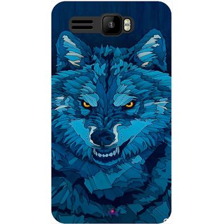 Snooky Printed 1089,southside festival wolf Mobile Back Cover of Intex Aqua R3 - Multi