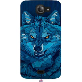 Snooky Printed 1089,southside festival wolf Mobile Back Cover of Intex Aqua Wave - Multi