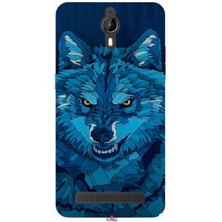 Snooky Printed 1089,southside festival wolf Mobile Back Cover of Panasonic P77 - Multi