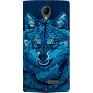 Snooky Printed 1089,southside festival wolf Mobile Back Cover of Intex Aqua Wing - Multi