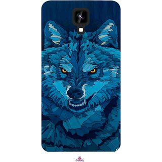 Snooky Printed 1089,southside festival wolf Mobile Back Cover of Intex Aqua Y2 1G - Multi