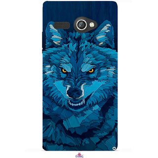 Snooky Printed 1089,southside festival wolf Mobile Back Cover of Lava Flair P1 - Multi