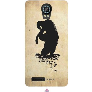 Snooky Printed 1090,Spiderman superhero silhouette posters Mobile Back Cover of Intex Aqua Life 2 - Multi