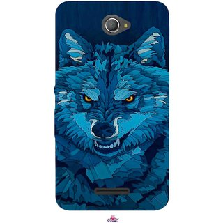 Snooky Printed 1089,southside festival wolf Mobile Back Cover of Sony Xperia E4 - Multi