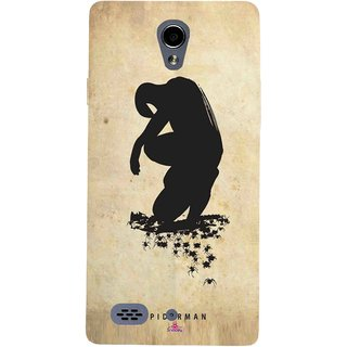 Snooky Printed 1090,Spiderman superhero silhouette posters Mobile Back Cover of Oppo Joy 3 - Multi