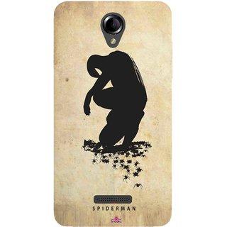 Snooky Printed 1090,Spiderman superhero silhouette posters Mobile Back Cover of Panasonic Eluga L2 - Multi