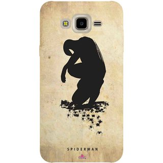 Snooky Printed 1090,Spiderman superhero silhouette posters Mobile Back Cover of Samsung Galaxy J7 - Multi