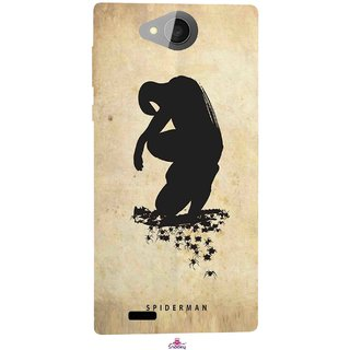 Snooky Printed 1090,Spiderman superhero silhouette posters Mobile Back Cover of Xolo Prime - Multi