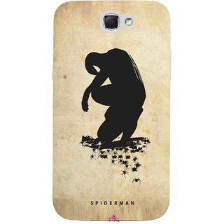 Snooky Printed 1090,Spiderman superhero silhouette posters Mobile Back Cover of Samsung Galaxy Note 2 - Multi