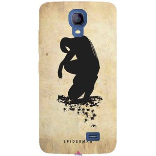 Snooky Printed 1090,Spiderman superhero silhouette posters Mobile Back Cover of Micromax Bolt Q383 - Multi