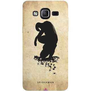 Snooky Printed 1090,Spiderman superhero silhouette posters Mobile Back Cover of Samsung Galaxy On5 Pro - Multi