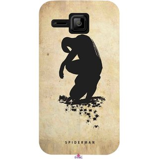 Snooky Printed 1090,Spiderman superhero silhouette posters Mobile Back Cover of Micromax Bolt S301 - Multi