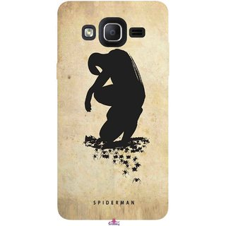 Snooky Printed 1090,Spiderman superhero silhouette posters Mobile Back Cover of Samsung Galaxy On7 - Multi