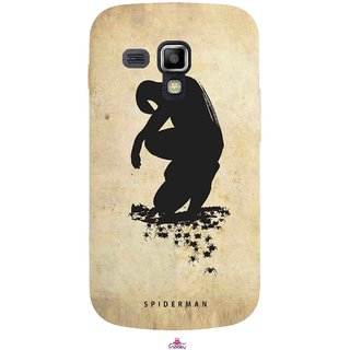 Snooky Printed 1090,Spiderman superhero silhouette posters Mobile Back Cover of Samsung Galaxy S Duos S7562 - Multi