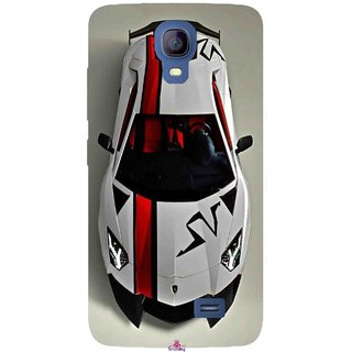 Snooky Printed 1091,sports cars and bikes Mobile Back Cover of Micromax Bolt Q383 - Multi
