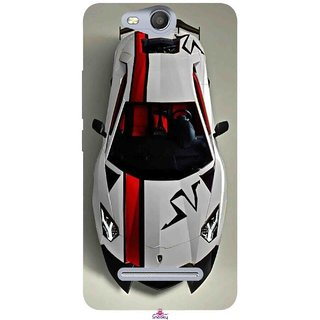 Snooky Printed 1091,sports cars and bikes Mobile Back Cover of Micromax Bolt Q392 - Multi