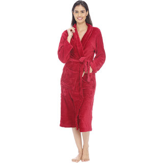 Vixenwrap American Red Fleece Bathrobe
