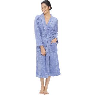 Vixenwrap Carolina Blue Fleece Bathrobe