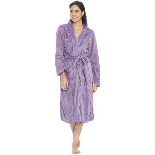 Vixenwrap Lilac Purple Fleece Bathrobe