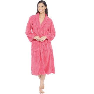 Vixenwrap Amarnath Pink Fleece Bathrobe