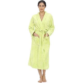 Vixenwrap Lime Green Fleece Bathrobe