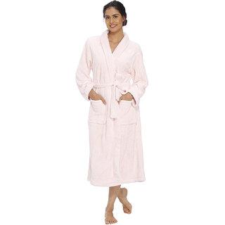 Vixenwrap Baby Pink Fleece Bathrobe