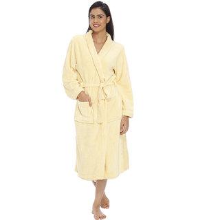 Vixenwrap Cream Yellow Fleece Bathrobe