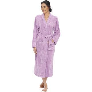 Vixenwrap Lavender Purple Fleece Bathrobe