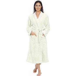 Vixenwrap Mint Cream White Fleece Bathrobe