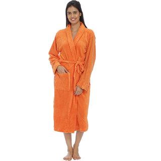 Vixenwrap Orange Fleece Bathrobe
