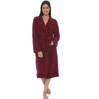 Vixenwrap Maroon Red Fleece Bathrobe