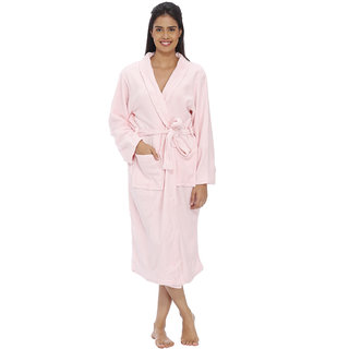 Vixenwrap Lavender Cute Pink Fleece Bathrobe