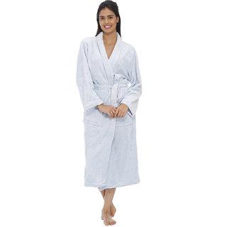 Vixenwrap Blush Blue Fleece Bathrobe