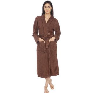 Vixenwrap Chocolate Brown Fleece Bathrobe